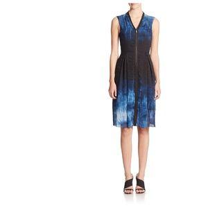 Elie Tahari Women's Blue Emma Tie Dye Dress 2